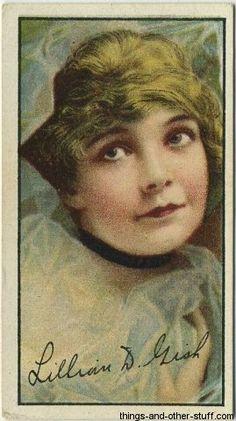 Lillian Gish 1916 Imperial Tobacco Movie Card on Immortal Ephemera