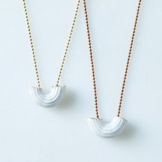 Ceramic Macaroni Necklace: Wear your food. #food52