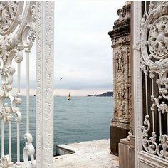 Dolmabahçe Palace (Turkish:Dolmabahçe Sarayı IPA:[doɫmabahˈtʃe saɾaˈjɯ]) located in theBeşiktaşdistrict of Istanbul Turkey on the Europeancoastline of theBosphorusstrait served as the main administrative center of theOttoman Empirefrom 1856 to 1922 apart from a 22-year interval (18871909) in which Yıldız Palacewas used. Mustafa Kemal Atatürk the founder and first President of the Republic of Turkey used the palace as a presidential residence during the summers and enacted some of his most… Istanbul City, Istanbul Turkey, What Is A Harem, Wooden Pavilion, Turkey Places, Republic Of Turkey, Summer Palace, Palace Of Versailles, Beautiful Places To Travel