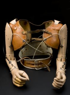When the sky pirate loses his arm, he can still fly with this device! / Upper limb prostheses, made for a 17 year-old boy in 1959 Vanitas, Curiosity Shop, Ex Machina, Medical Science, Medical History, A 17, Human Body, Medicine, The Past