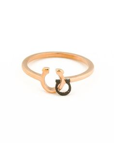 Horseshoe Ring • Rose Gold Ring • Pinky Ring • Horseshoe Jewelry • Good Luck Ring • Bridesmaid Ring • Rose Gold Jewelry • | 0041RM