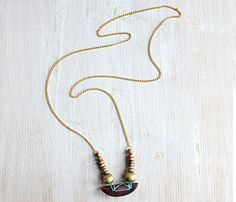 Wood Crescent Necklace....LOVE