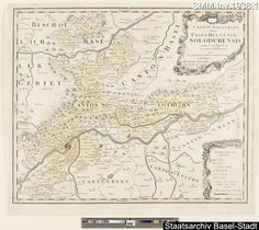 Landkarte Kanton Solothurn 1766