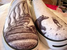 Edward Gorey shoesies: A is for Amy who fell down the stairs. B is for Basil assaulted by bears