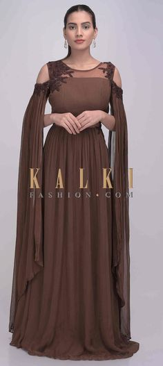 Long Cape, Gowns With Sleeves, Chiffon Gown, Indian Wear, Lehenga, Fashion Dresses, Nike, Womens Fashion, Acrylic Nails