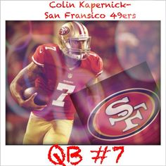 Colin Kapernick of the San Fransico 49ers.