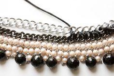 Collar DIY de perlas y cadenas