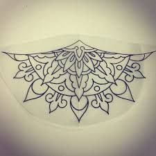Image result for simple half mandala design