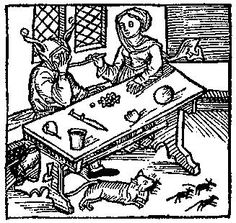 A Feast For The Eyes 30. A Fool's table. From Medieval Life Illustrations.