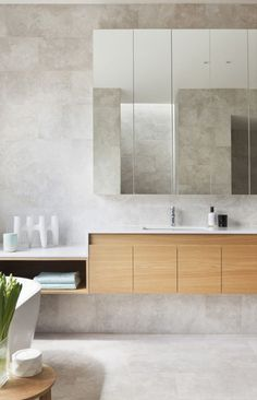 Concrete-look tiles can be used just about anywhere - both indoors and outdoors…
