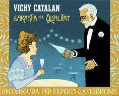 https://flic.kr/p/EGZ1hS | 2000 Cartell Vichy Catalán Garantia de Qualitat català - Jordi Soldevila | GARANTIA QUALITAT