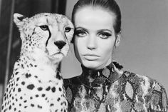 Animal Kingdom: Our Favorite Creatures in Vogue  Veruschka   July 1967 , Photographed by William Klein