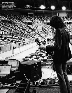 """Proving ground: Jimmy Page before a show in 1975. """"I love playing,"""" he said. """"If touring was down to just that, it would be utopia."""" #LedZeppelin"""