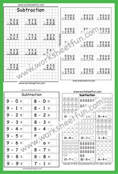 Number Line Subtraction, Subtraction Worksheets, Kindergarten Worksheets, Free Printable Worksheets, Free Printables, Word Problems, Sentences, Daughter, Words