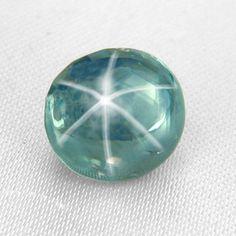 A blue-green Montana star sapphire