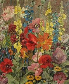 """Autumn flowers"" by Sir Cedric Morris 1928"