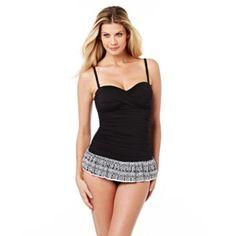 f3c9b6232cdf3 24th & Ocean® Women's 'Baha' 1-Piece Bandeau Swimdress - Sears   Sears  Canada