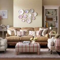 Living Room Ideas | Faded floral living room | Country living room designs | Ideal Home ...