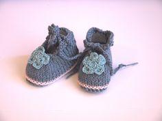 82fa8490f8f87 ballerines bébé chaussons coton naissance 0 3 mois gris rose fleur bleue    Mode Bébé