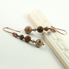 Fall Fashion Jewelry Earrings Safari Jasper by AbacusBeadCreations, $20.00