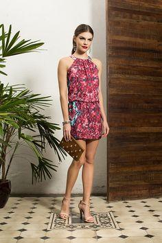 Vestido estampado luxo - Lookbook Alto Verão 15