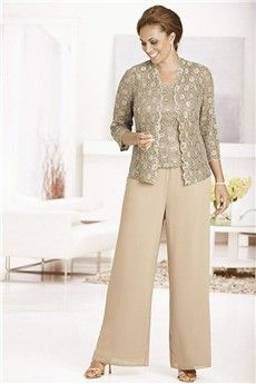 38ebb1ed3d1 Pant Suits Strapless Ankle-length Chiffon Lace Mother of the Bride Dress  Lace Jacket
