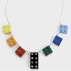 Recycled Toy Block Necklace