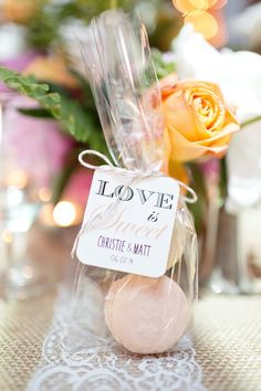 Macarons: http://www.stylemepretty.com/2015/06/28/15-delicious-wedding-food-favors/