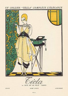 Advertisement of Técla pearls, 1920