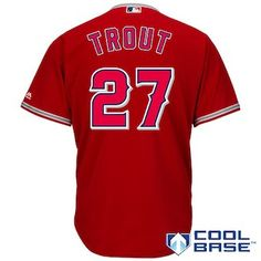 Mike Trout Los Angeles Angels Majestic Cool Base Player Jersey - Scarlet  Angels Baseball 26122a248