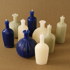 Pick up hand-dipped rainbow-colored tapers, silkscreened glass tumblers, and old-timey bottle shapes. Thank you Cincinnati Magazine Home Candles, Best Candles, Diy Candles, Pillar Candles, Candle Sculpture, Candle Power, Bottle Candles, Candle Molds, Candle Wax
