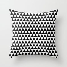 30 colours, Geometric Triangles Pattern Decorative Pillow Cover, Black and white pattern pillow case, Home decor, Geometric Cushion cover
