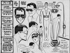 Plastic Man Model Sheet - by Alex Toth