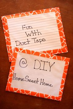 DIY double sided dry erase boards.