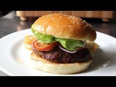 Food Wishes Video Recipes: Homemade Hamburger Buns – Oh, My, God. The best homemade buns ever ! And an awesome video tutorial. Best Burger Buns, Easy Homemade Burgers, Homemade Hamburgers, Homemade Buns, Hamburger Bun Recipe, Hamburger Buns, Chef John Recipes, Cooking Recipes, Bread Recipes