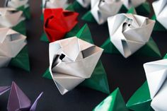 Rosa, Rosae_origami bouquet by Riccardo Campagnaro, via Behance