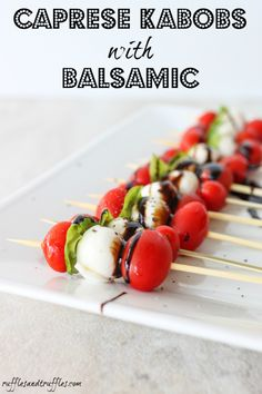 caprese kabobs with balsamic