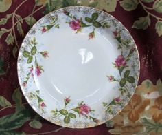 Chodziez Poland Pink Rose Porcelain Plate by OldShedVintage