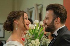 Salih Bademci and Müjde Uzman in Kiralik Ask Turkish Actors, Beautiful Actresses, Formal Dresses, Wedding Dresses, Entertainment, Love, Instagram, Elcin Sangu, Oval Nails