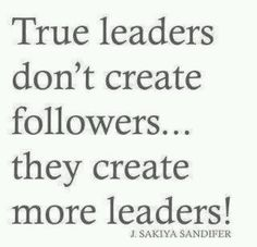 Dedicate yourself to creating more leaders! Follow us on Twitter @ELLA Leadership Institute & @Angelica Suarez Perez