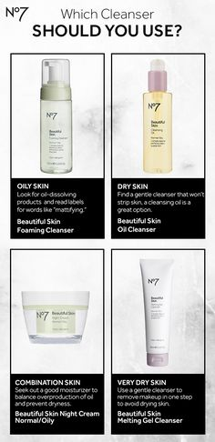 Normal, dry, oily or a combination – no matter your skin type, No7 has a cleanser for you! Set your skincare record straight with this guide, brought to you by No7 skincare.
