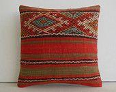 decorative throw pillow kilim pillow cover turkish cushion cover decorative pillow case accent decoration tribal boho southern southwestern