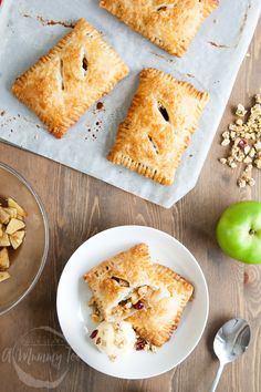 Apples, cinnamon, puff pastry and...granola! These are unlike any apple turnover you've had before. They're sweet, chewy and delicious. They're also egg and dairy free! Make them today! #ad