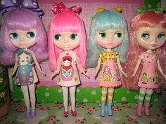 """Blythe Girlies are """"All Dolled Up"""" in their Matryoshka Dresses!!!!  ~ Primrose Princess @ flickr"""