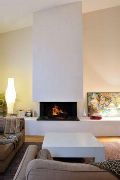 Installation de cheminée contemporaine sur mesure à Bordeaux
