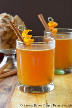 Hot Apple Cider Buttered Whiskey