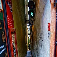 Narrowest street in Prague @ Czech Republic