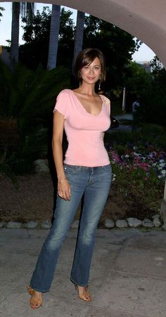 Catherine Bell - luv the hair and the shirt