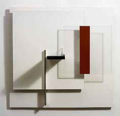 Victor Pasmore, Abstract in White, Black & Ochre