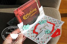 Very cool Gift Card Holder by Yvonne featuring the Deco Labels Framelits by Karen Burniston for Stampin' Up! .....Yvonne's Stampin' & Scrap Blog.....
